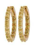Yellow Diamond Ladies Earrings