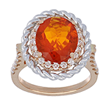Fire Opal Ladies Rings