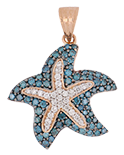 Blue Diamonds Ladies Pendant