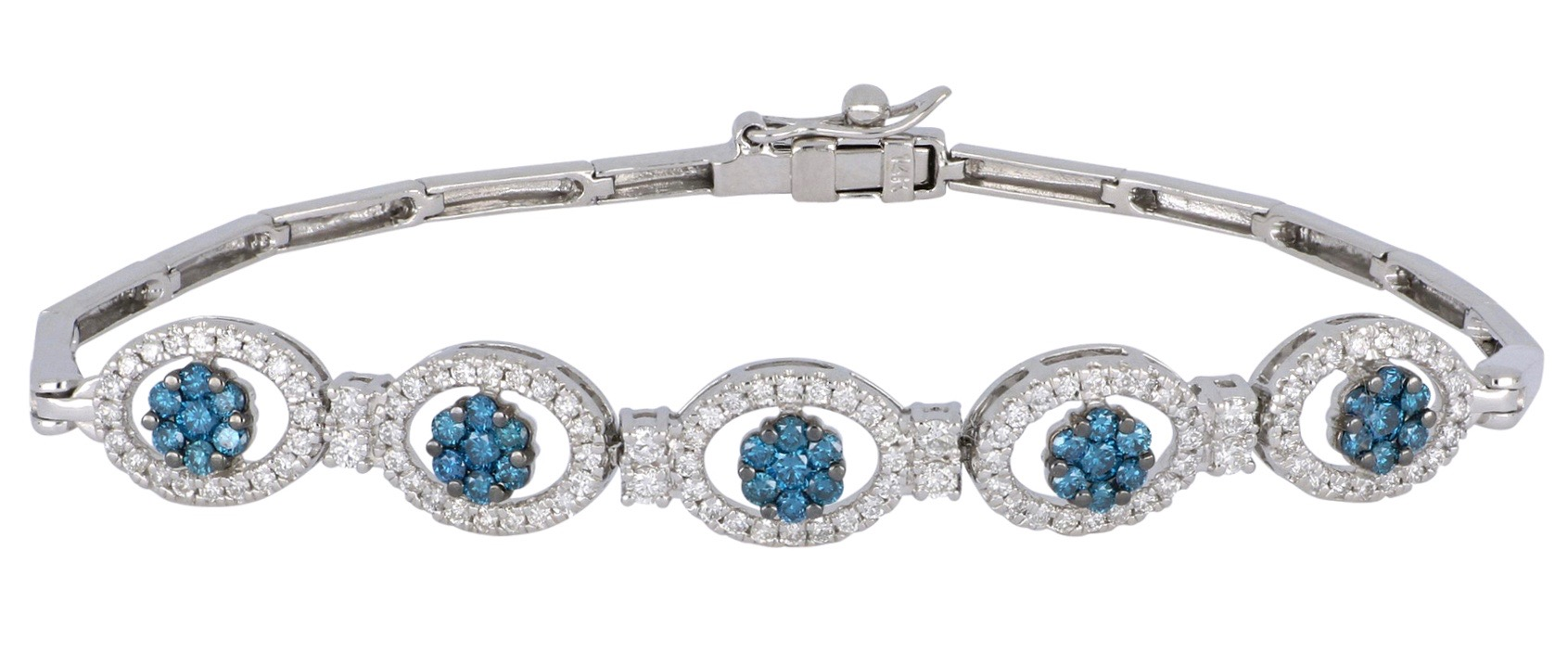 Blue Diamond Ladies Bracelet