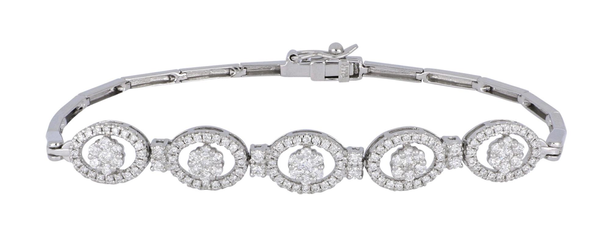White Diamond Ladies Bracelet