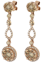 Brown Diamond Ladies Earrings