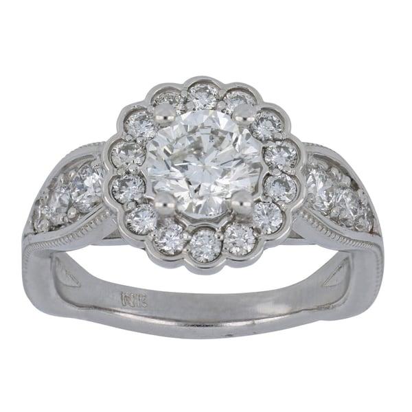 White Diamond Ladies Ring