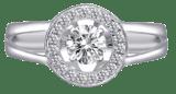 Dazzling CZ Halo Ring