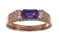 Purple Sapphire Ladies Ring