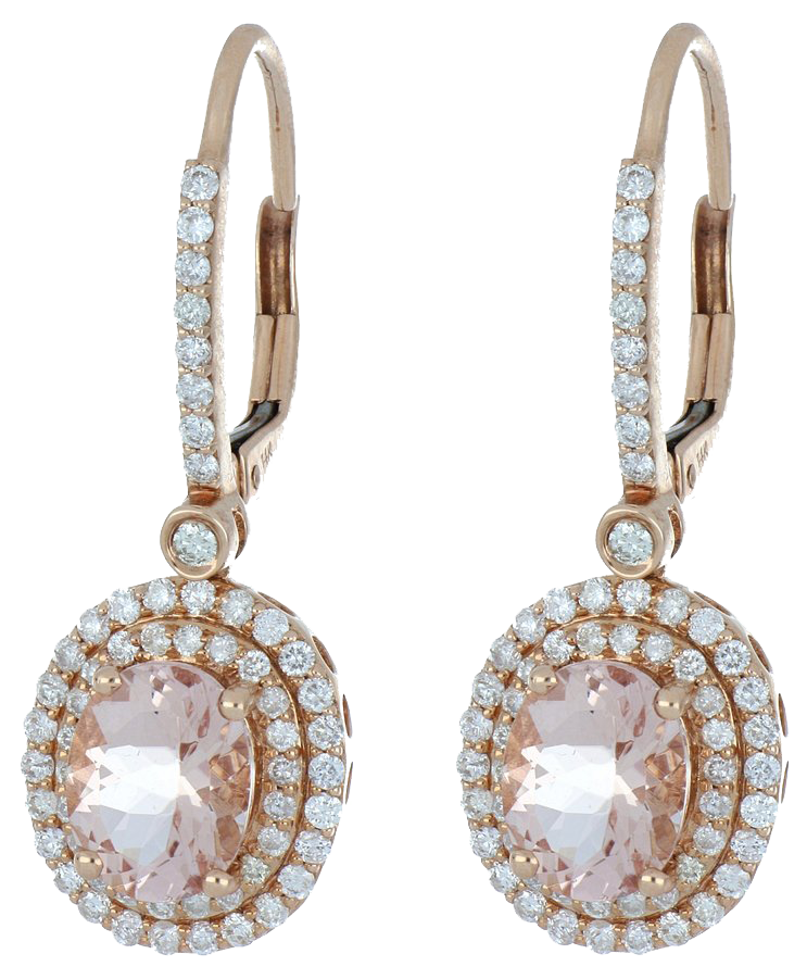 Morganite Ladies Earrings