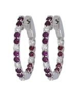 Purple Diamond Ladies Earrings