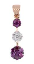 Purple Diamond Ladies Pendant