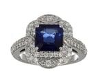 Blue Sapphire Ladies Ring