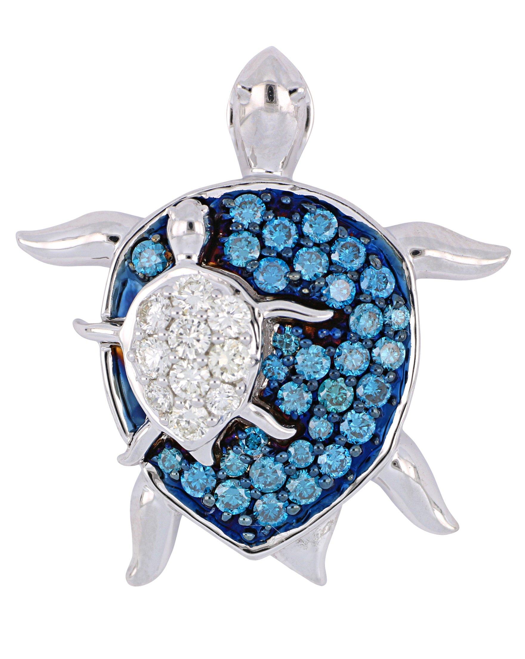 Blue Diamond Ladies Pendant