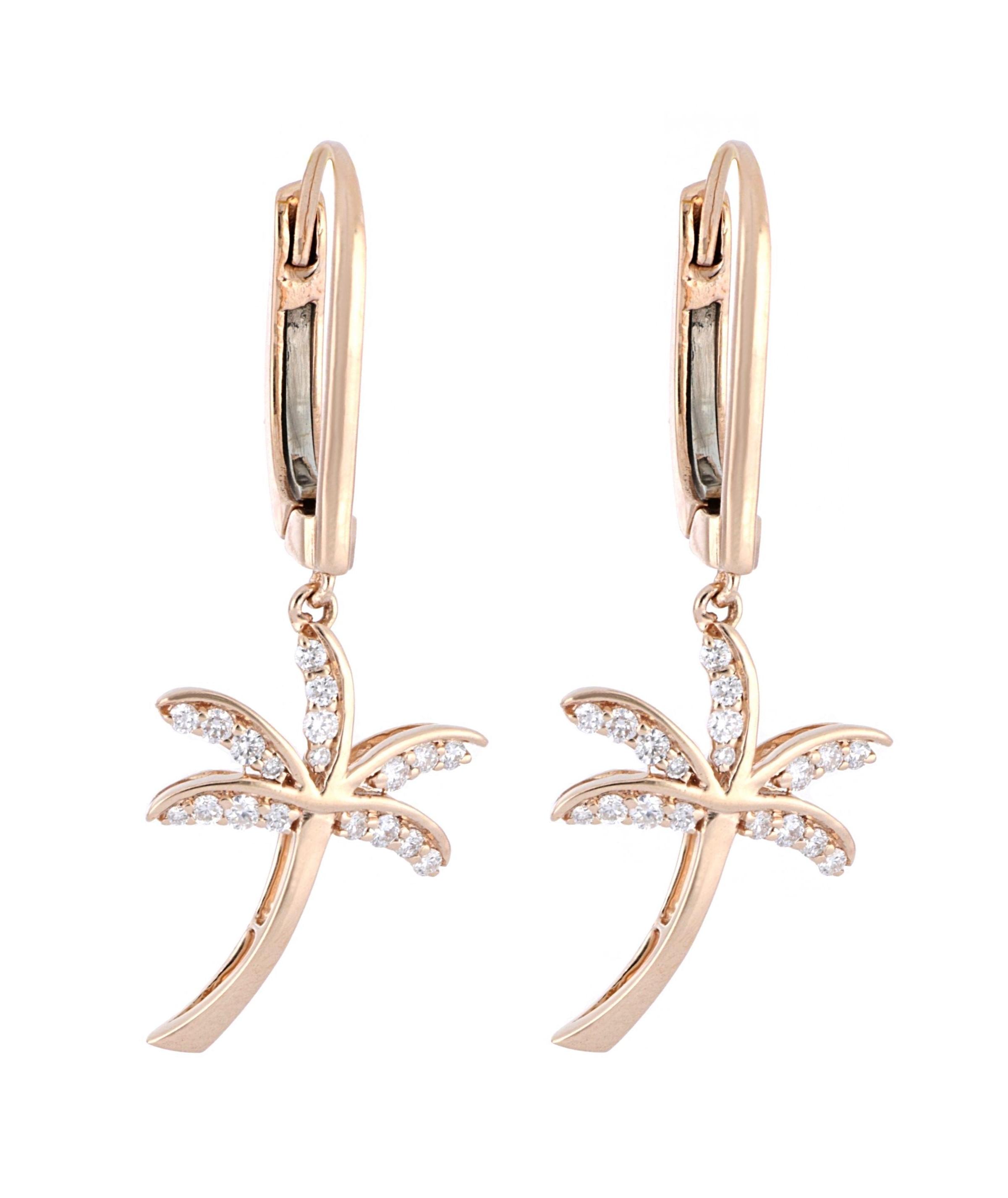 White Diamond Ladies Earrings