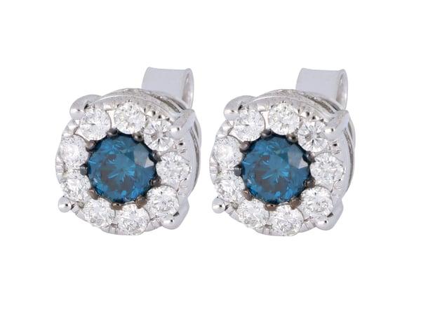 Blue Diamond Ladies Earrings