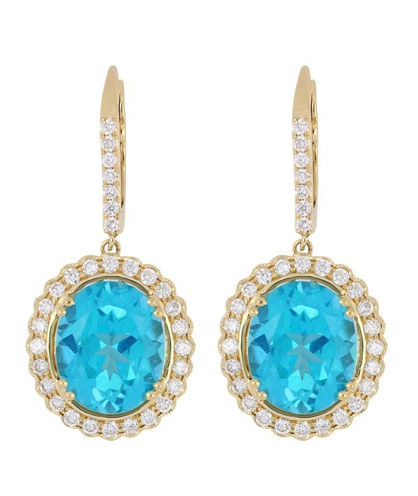 Paraiba Topaz Ladies Earrings