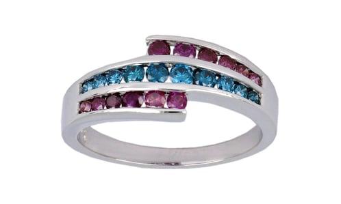 Purple Diamond Ladies Ring