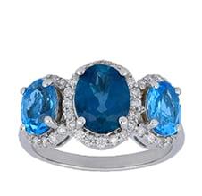 Blue Topaz Ladies Ring