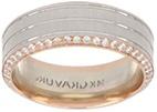 Forever Men's Diamond Ring (in 14kt white & rose gold)
