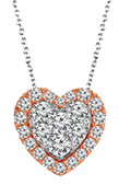 Pave diamond pendants