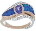 Tanzanite Ring with Inlay Opal
