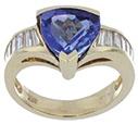 Tanzanite Ring with White Diamonds