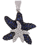 Blue Sapphire Ladies Pendant
