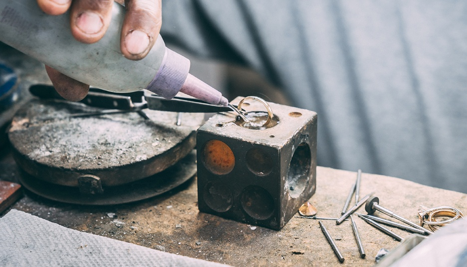 Ring being crafted