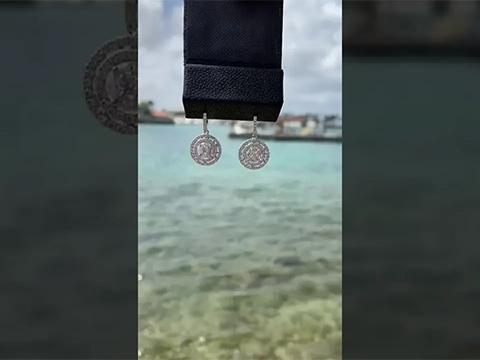 The Famous 3 cut dangle earring by KFJ